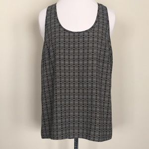 Pleione sleeveless high/low tank top